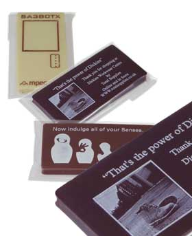 Promotional chocolate business cards colourmoves